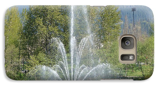 Galaxy Case featuring the painting Lafarge Lake Fountain by Rod Jellison