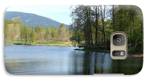Galaxy Case featuring the painting Lafarge Lake Serenity by Rod Jellison