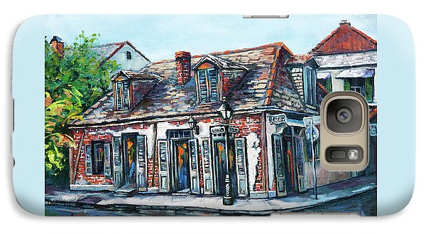 Galaxy Case featuring the painting Lafitte's Blacksmith Shop by Dianne Parks