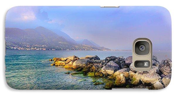 Galaxy Case featuring the photograph Lago Di Garda. Stones by Dmytro Korol