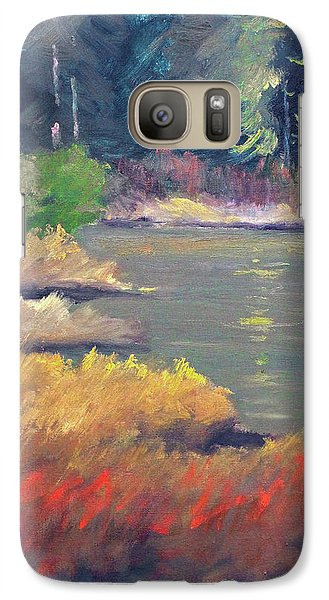 Galaxy S7 Case featuring the painting Lagoon by Nancy Merkle