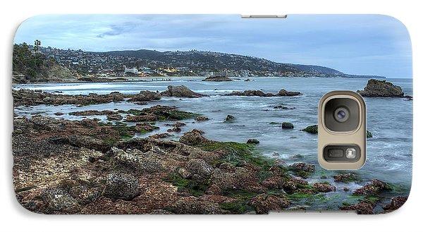 Galaxy Case featuring the photograph Laguna Beach Shoreline At Low Tide by Eddie Yerkish