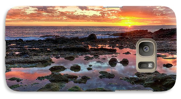 Galaxy Case featuring the photograph Laguna Beach Tidepools At Sunset by Eddie Yerkish