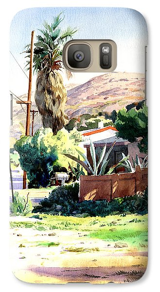Galaxy Case featuring the painting Laguna Canyon Palm by John Norman Stewart
