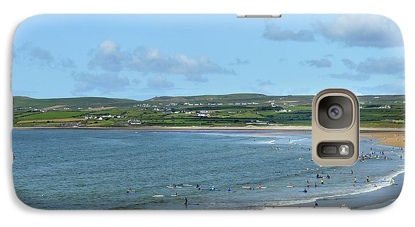 Galaxy Case featuring the photograph Lahinch Beach by Terence Davis