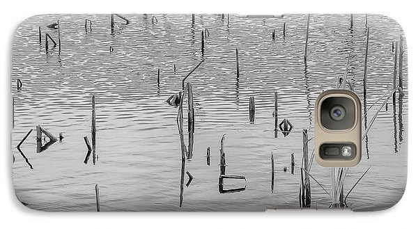 Galaxy Case featuring the photograph Lake Abstract by Carolyn Dalessandro