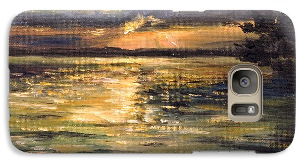 Galaxy Case featuring the painting Lake by Arturas Slapsys