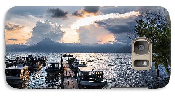 Galaxy Case featuring the photograph Lake Atitlan At Sunset by Yuri Santin