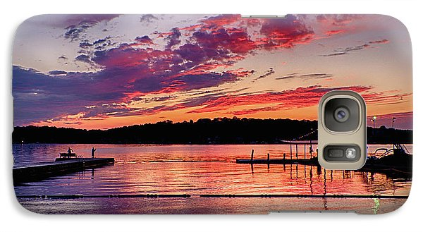 Galaxy Case featuring the photograph Lake Beach Sunset by Mark Miller