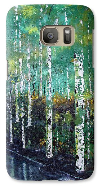 Galaxy Case featuring the painting Lake Birch by Gary Smith