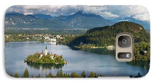 Galaxy Case featuring the photograph Lake Bled Pano by Brian Jannsen