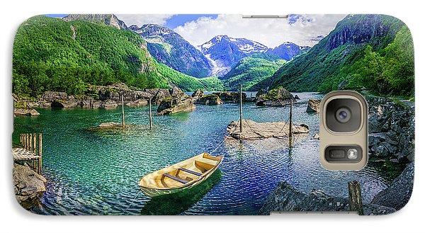 Galaxy Case featuring the photograph Lake Bondhusvatnet by Dmytro Korol