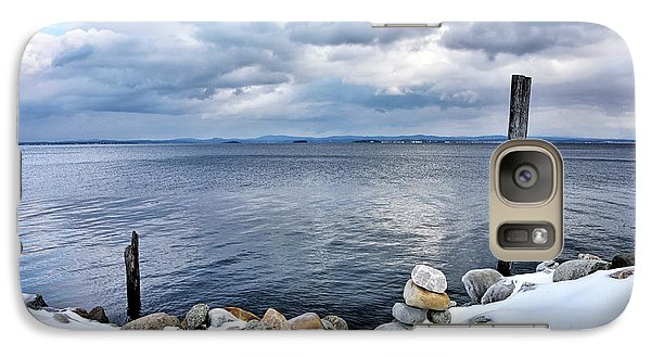 Galaxy Case featuring the photograph Lake Champlain During Winter by Brendan Reals