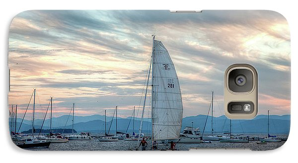 Galaxy Case featuring the photograph Lake Champlain Sunset Sail by Susan Cole Kelly