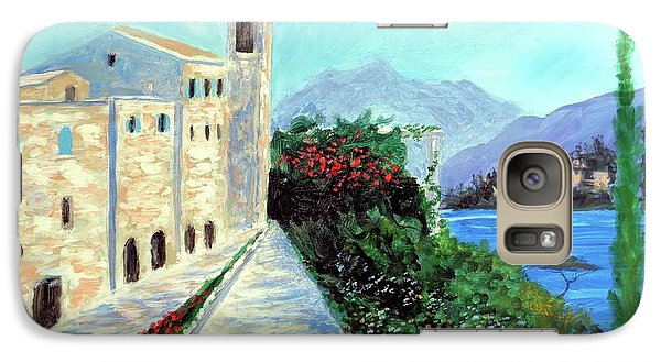 Galaxy Case featuring the painting Lake Como Colors  by Larry Cirigliano