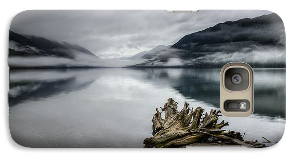 Galaxy Case featuring the photograph Lake Crescent Relic by Dan Mihai