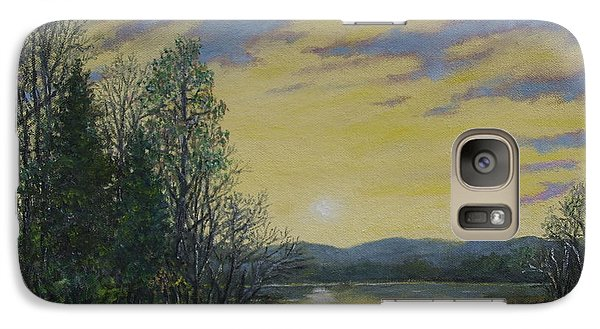 Galaxy Case featuring the painting Lake Dawn by Kathleen McDermott
