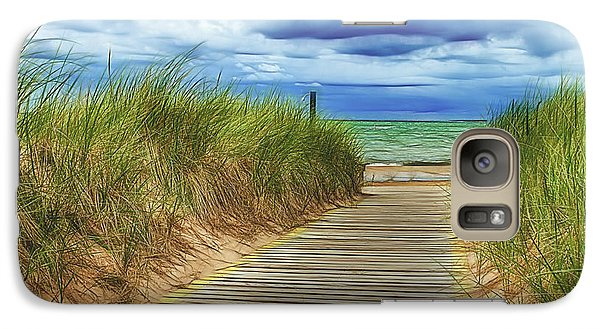 Galaxy Case featuring the photograph Lake Huron Boardwalk by Bill Gallagher