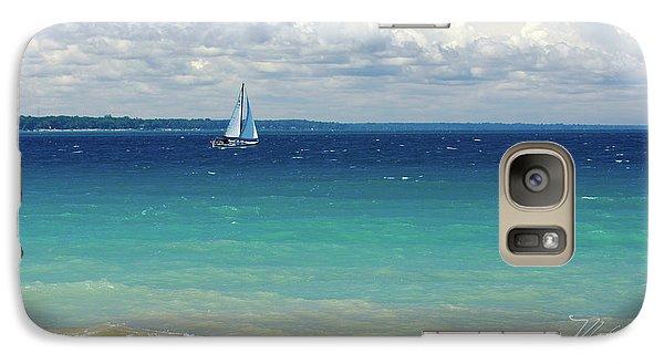 Galaxy Case featuring the photograph Lake Huron Sailboat by Meta Gatschenberger