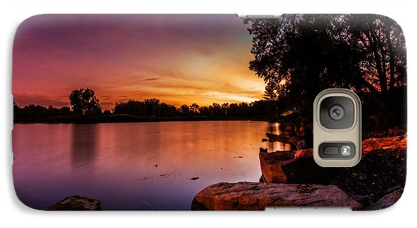 Galaxy Case featuring the photograph Lake Kirsty Twilight by Chris Bordeleau