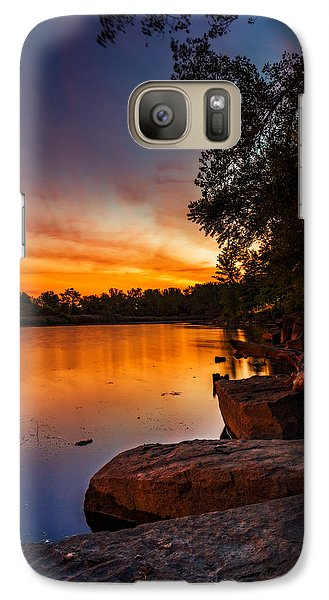 Galaxy Case featuring the photograph Lake Kirsty Twilight - Vertical by Chris Bordeleau