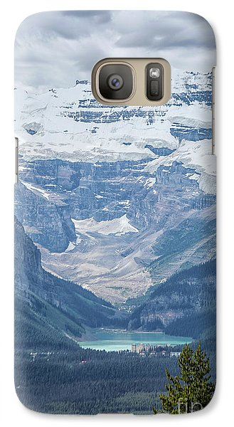 Galaxy Case featuring the photograph Lake Louise, Banff National Park, Alberta, Canada, North America by Patricia Hofmeester