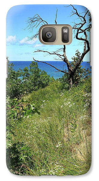 Galaxy Case featuring the photograph Lake Michigan Near Cowles Bog by Scott Kingery