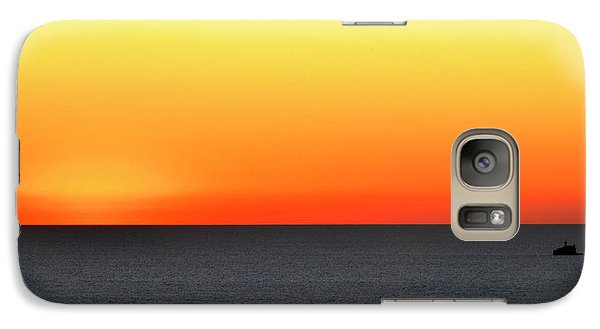 Galaxy Case featuring the photograph Lake Michigan Sunrise by Zawhaus Photography