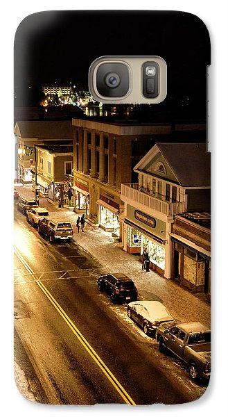 Galaxy Case featuring the photograph Lake Placid New York - Main Street by Brendan Reals