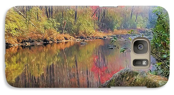 Galaxy Case featuring the painting Chattooga Paradise by Steven Richardson