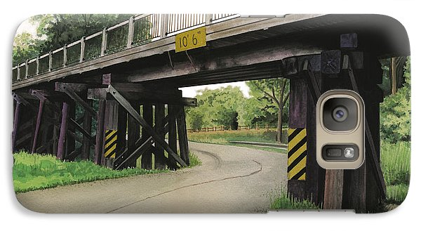 Galaxy Case featuring the painting Lake St. Rr Overpass by Ferrel Cordle
