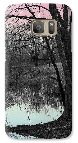 Galaxy Case featuring the digital art Lake Sunset by Terry Cork