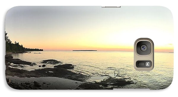 Galaxy Case featuring the photograph Lake Superior Evening Sky by Paula Brown