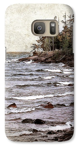 Galaxy Case featuring the photograph Lake Superior Waves by Phil Perkins