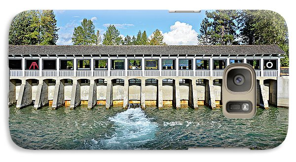 Galaxy Case featuring the photograph Lake Tahoe Dam by David Lawson