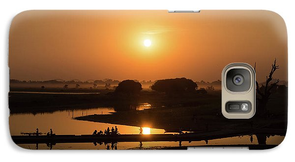 Burmese Python Galaxy S7 Case - Lake Taungthaman by Delphimages Photo Creations