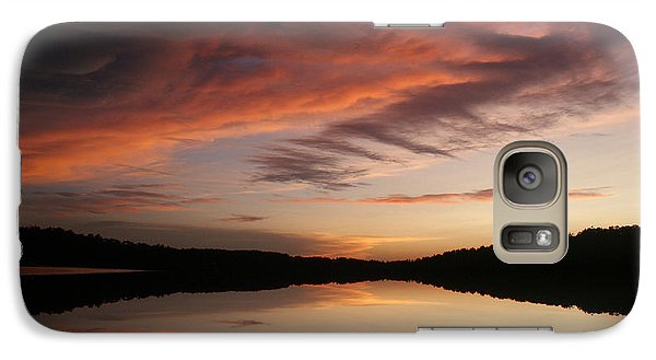 Galaxy Case featuring the photograph Lake Thunderbird Sunset by Rick Friedle