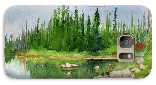 Galaxy Case featuring the painting Lake View 1-2 by Yoshiko Mishina