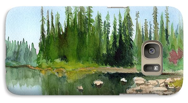 Galaxy Case featuring the painting Lake View 1 by Yoshiko Mishina