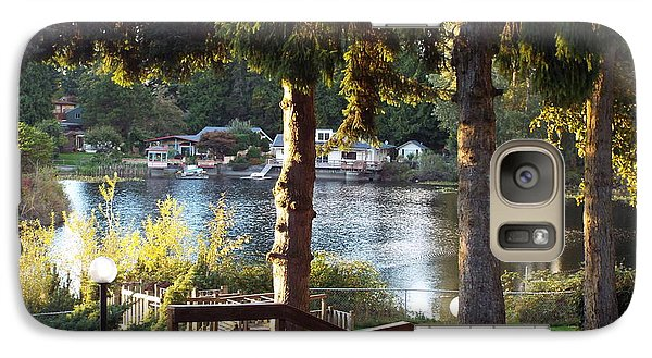 Galaxy Case featuring the photograph  Beverly Lake View In Fall by Judyann Matthews