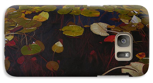 Galaxy Case featuring the painting Lake Washington Lilypad 7 by Thu Nguyen