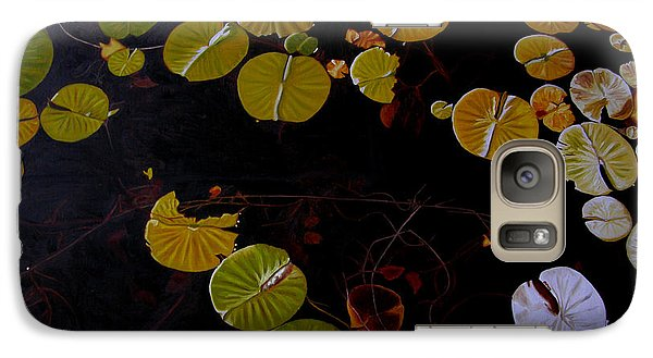 Galaxy Case featuring the painting Lake Washington Lilypad 8 by Thu Nguyen