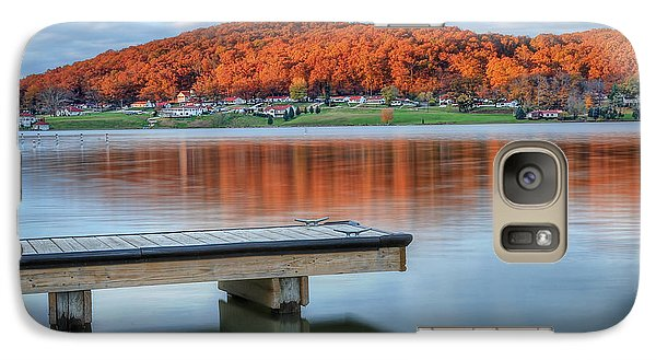 Galaxy Case featuring the photograph Autumn Red At Lake White by Jaki Miller