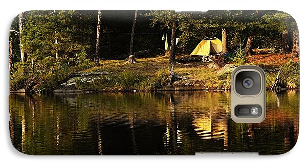 Galaxy Case featuring the photograph Lakeside Campsite by Larry Ricker
