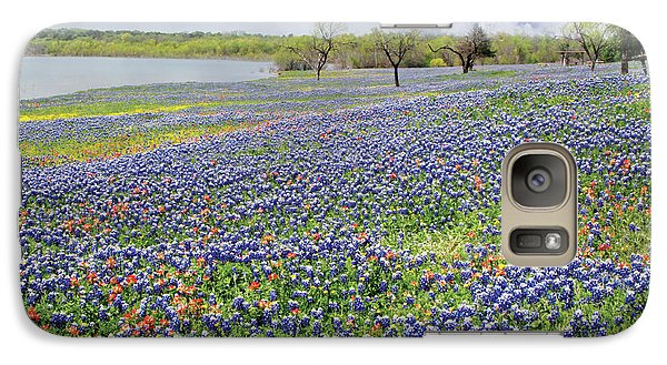 Galaxy Case featuring the photograph Lakeside Texas Bluebonnets by David and Carol Kelly