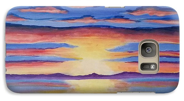 Galaxy Case featuring the painting Lakeview Sunset by Carol Duarte