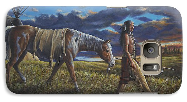 Galaxy Case featuring the painting Lakota Sunrise by Kim Lockman
