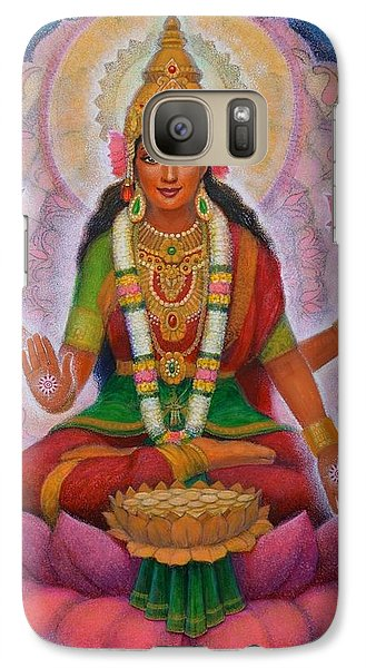 Galaxy Case featuring the painting Lakshmi Blessing by Sue Halstenberg