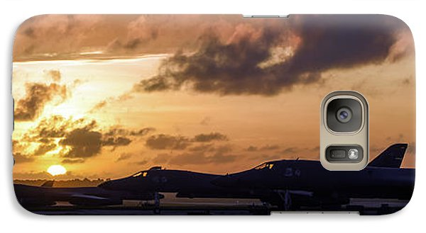 Galaxy Case featuring the photograph Lancer Flightline by Peter Chilelli