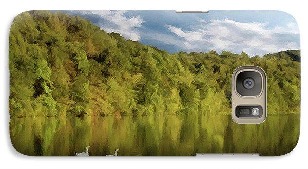 Galaxy Case featuring the photograph Landingville Lake Pennsylvania by David Dehner